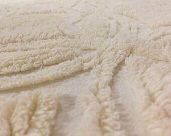 Cream Chenille Bedspread