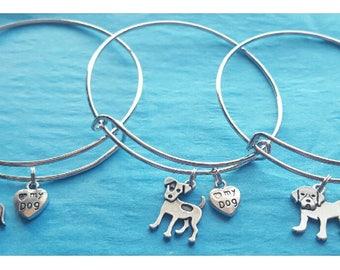 You Select Dog Breed- Charm Dog Breed Bracelet