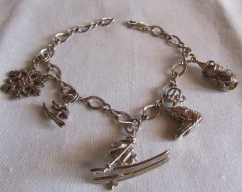 Sterling Silver Winter Charms Bracelet
