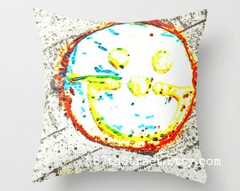 "SMILE Cookie 16x16"" Pillow Cover. Photo Art by TMCdesigns. Love. Happy. Joy. Home Decor. Holidays. Tote Bag. Mug."