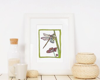 Dragonfly Limited Edition Fine Art Print from original 13x19 or 11 x 14 or 8 x 10 or 5 x 7 // Wall Art