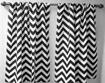 white short sew for my pin from diy no curtain room black made curtains chevron dining