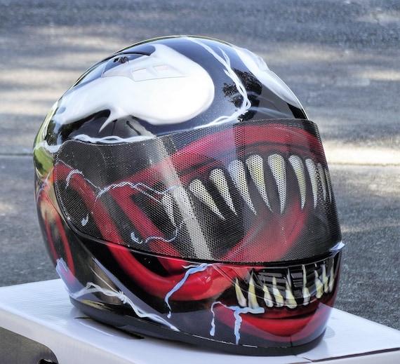 Venom Custom Airbrush Painted Motorcycle Helmet