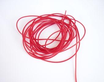 Wire 50 cm PVC round red 1.5 mm