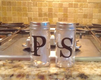 Customized/Personalized Salt and Pepper Shakers