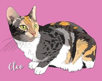 Cat Portrait, Custom Pet Portrait, Pet Portrait, Pet Illustration, Animal Portrait, Pet Memorial, Dog Portrait, Digital Files