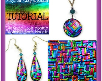 Polymer clay tutorial cuff bracelet tutorial bracelet tutorial polymer clay dichroic look mosaic tutorial pendant earring tutorial jewelry making tutorial aloadofball Image collections