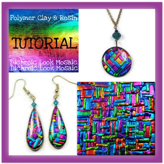 Polymer clay tutorial mosaic tutorial pendant tutorial polymer clay tutorial mosaic tutorial pendant tutorial jewelry making tutorial polymer clay foil techniques faux dichroic mozeypictures Image collections