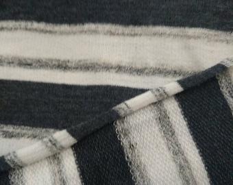 Grey Stripe French Terry