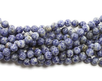 Denim Lapis Round Gemstone Beads