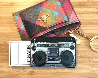 Retro Boom Box Bus Pass Holder, Oyster Card Holder, Card Holder, Business Card Holder, Oyster Card Case, Oyster Card Wallet