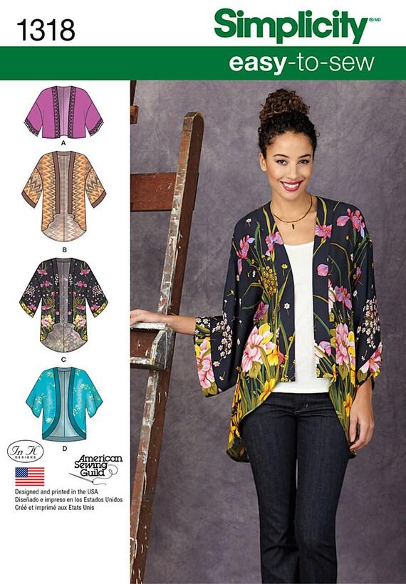 Einfachheit Muster 1318 Misses\' Kimono Jacken