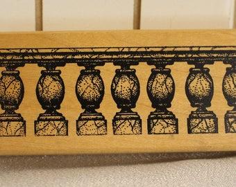 Pedestal or Table Stamp Ornate Legs by A Stamp in the Hand Wood Stamp for Scrapbooking or Card Making