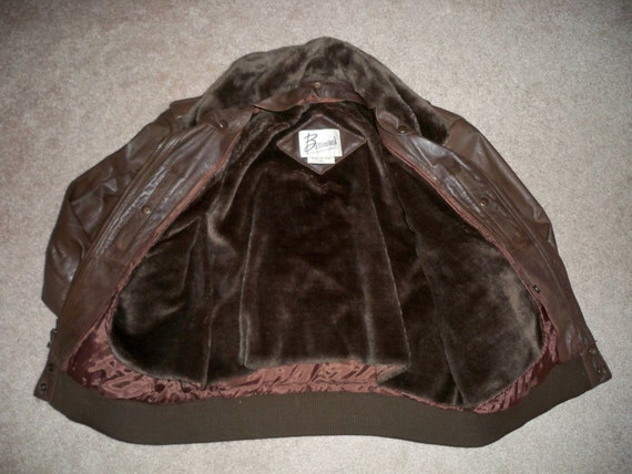 44 Korea Men's Brown Biker Jacket Coat Made Cruising Leather Berman's Vintage Motorcycle Size in Riding wPAa1q