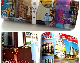 Rare Vintage 1970s Las Vegas Hotels Photo Magazine Hard Sided Clutch Purse VLV