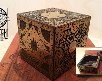 """3.5"""" Hellraiser Puzzle Box - Curio Box (opens for inside storage)"""