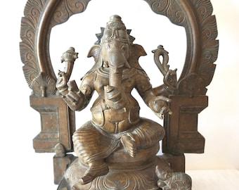 Ganesha Statue Bronze Ganesh South Indian Bronze Hindu