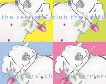Pop Art Card Bull Terrier Art