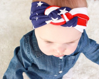 USA American Flag : sailors knot headband