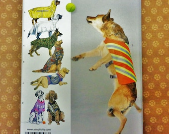 UNCUT Simplicity #1578 Large Size Dog Clothes by Longia Miller Designs 2013