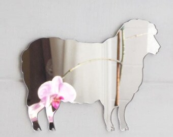Farm Yard Sheep Acrylic Mirror
