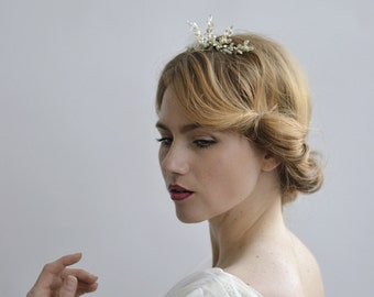 The Lady Pearla Tiara - 1920s & 1930s inspired bridal hair comb, vintage wedding, Art Deco hair accessory