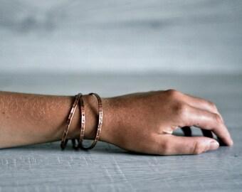 Copper bracelet, Copper Jewelry, Mens Bracelet, Womens jewelry, Bangle bracelet, Staking bracelet, boho jewelry, Hammered bracelet, Metal