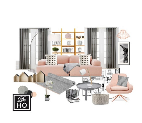 Delightful Interior Design Service Online EDesign. Complete 1 Room
