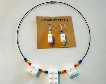 brick necklace/earring set