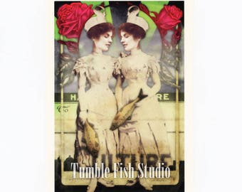 New Postcard - Doubles by Tumble Fish Studio