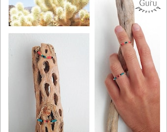 Mini Threading chain finger or knuckle ring