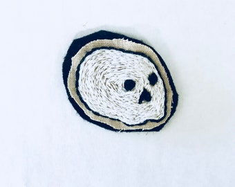 Skull Patch | Hand embroidered patch