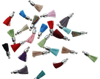 5 charms 25mm - multicolor SC79508 fringe tassels-
