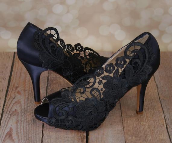 Custom consultation wedding shoes navy blue wedding shoes custom consultation wedding shoes navy blue wedding shoes something blue something blue shoes blue wedding shoes lace wedding shoes junglespirit Images