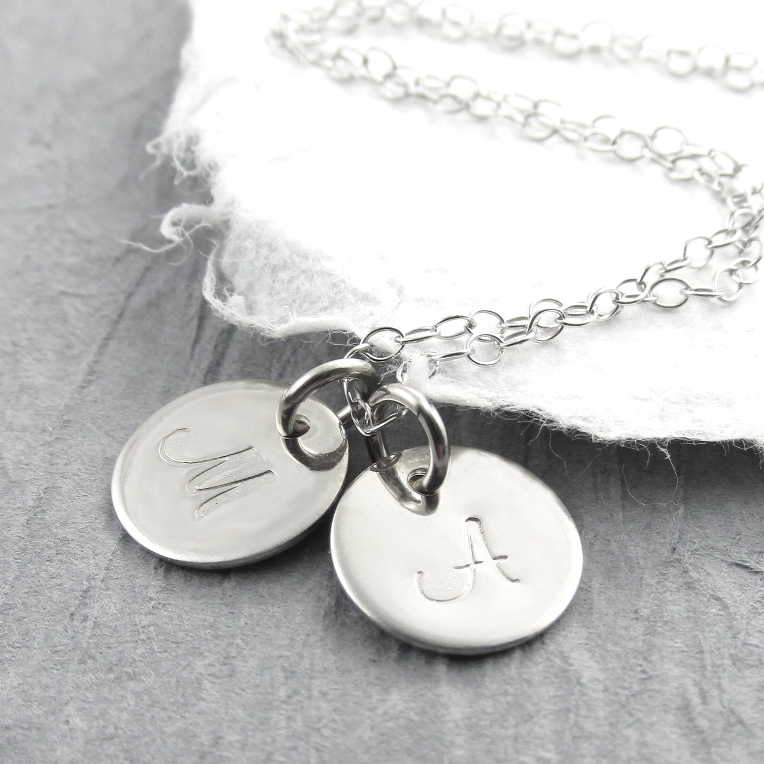14k white gold initial necklace white gold personalized zoom mozeypictures Images