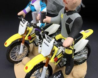Suzuki Motorcycle Wedding Cake Topper, Motorcycle Wedding Anniversary Gift, Suzuki Motorcycle Wedding Anniversary Gift, Anniversary Gift