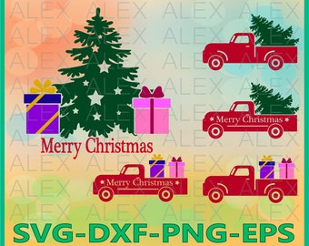 70% OFF, Merry Christmas SVG, Christmas Truck SVG, Christmas Tree Truck svg, Christmas Svg, Dxf, Eps, Png files, Silhouette Cut Files