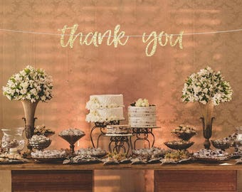 Thank you photo props, Thank you banner, engagement party banner, bridal shower decorations, wedding reception banner, bridal party decor