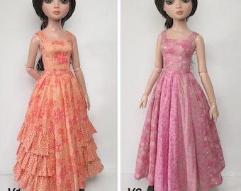 STRAIGHTFORWARD SEWING Pattern SSP-046: 2 dresses for Ellowyne & friends. Two dress options and petticoat.