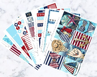 Seas the Day Luxe Sticker Kit (Glam Planner Stickers for Erin Condren Life Planner)
