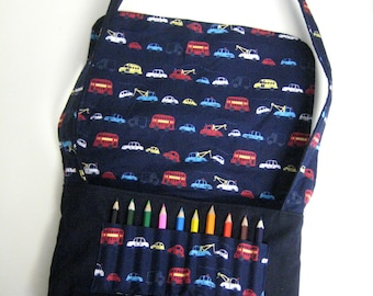CARS Messenger Bag with Mini Colouring Pencils from Age 6