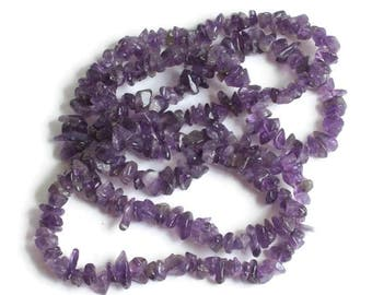 Amethyst Nugget Necklace Over the Head Style Vintage