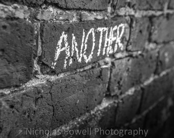 Pink Floyd - Another Brick In The Wall - Black and White Print - Music Photography - Matte or Glossy - Art