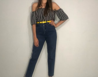 1980s high rise jeans