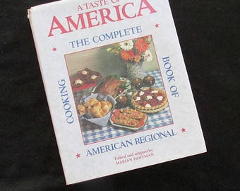 Vintage Cookbook A Taste of America The Complete Book of American Regional Cooking Marian Hoffman 1988 Hard Cover Dust Jacket