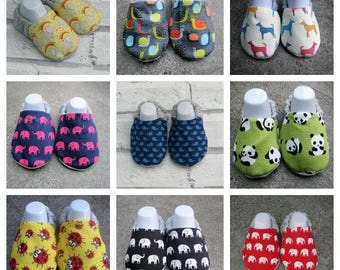 Animal Themed baby booties, Available in sizes up to 24 months, Elephant,snails,dog,whale,panda,ladybird!!