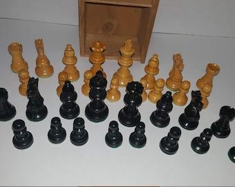Vintage Bakelite Chess Pieces Rare