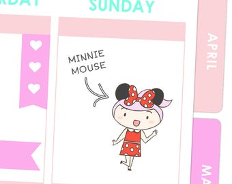 Rosie Minnie Mouse Stickers / Planner Stickers