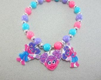 Abby Cadabby Charm Bracelet, Abby Cadabby Jewelry, Abby Cadabby Party, Abby Cadabby Gift