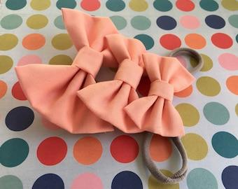 Rosey Posy Fabric Hairbow